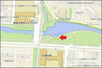 新左近川親水公園カヌー場会場図