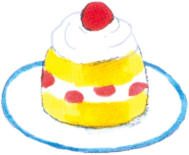 イラスト:ショートケーキ