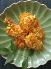 7月30日のレシピ 鶏肉の柿ピーナッツ焼き